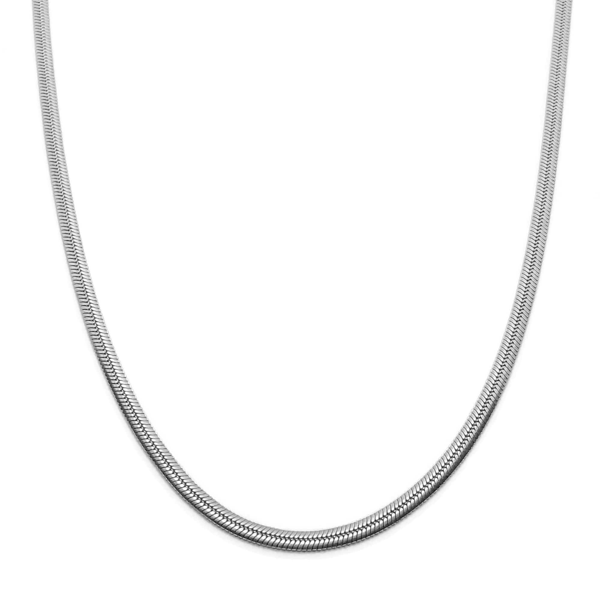 Demi Herringbone Necklace - Silver