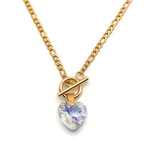 Iridescent Heart Necklace