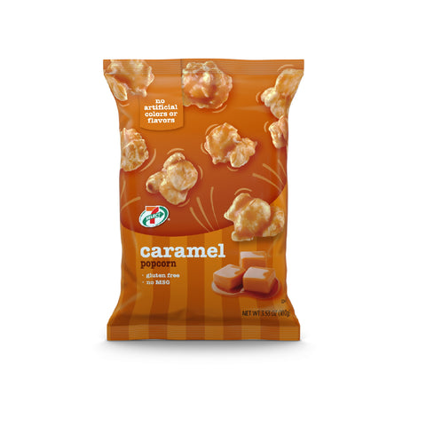 7-Select Caramel Flavored Popcorn, 3.5 oz, 6-Pack