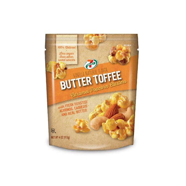 7-Select Caramel Nut Popcorn Clusters, (4 Oz, 6-Pack)