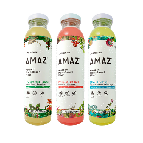 AMAZ Amazon Plant Based Elixir (Variety Pack, 6-Pack)