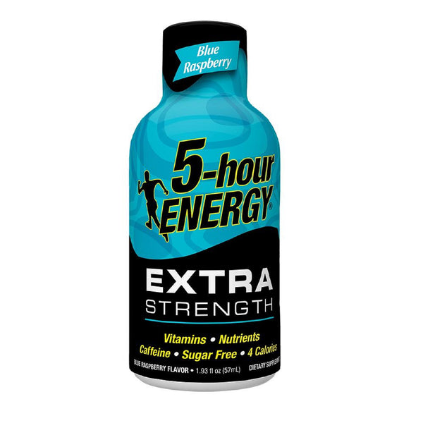 5 Hour Energy Extra Strength Energy Shots, Blue Raspberry, 12 Ct Box