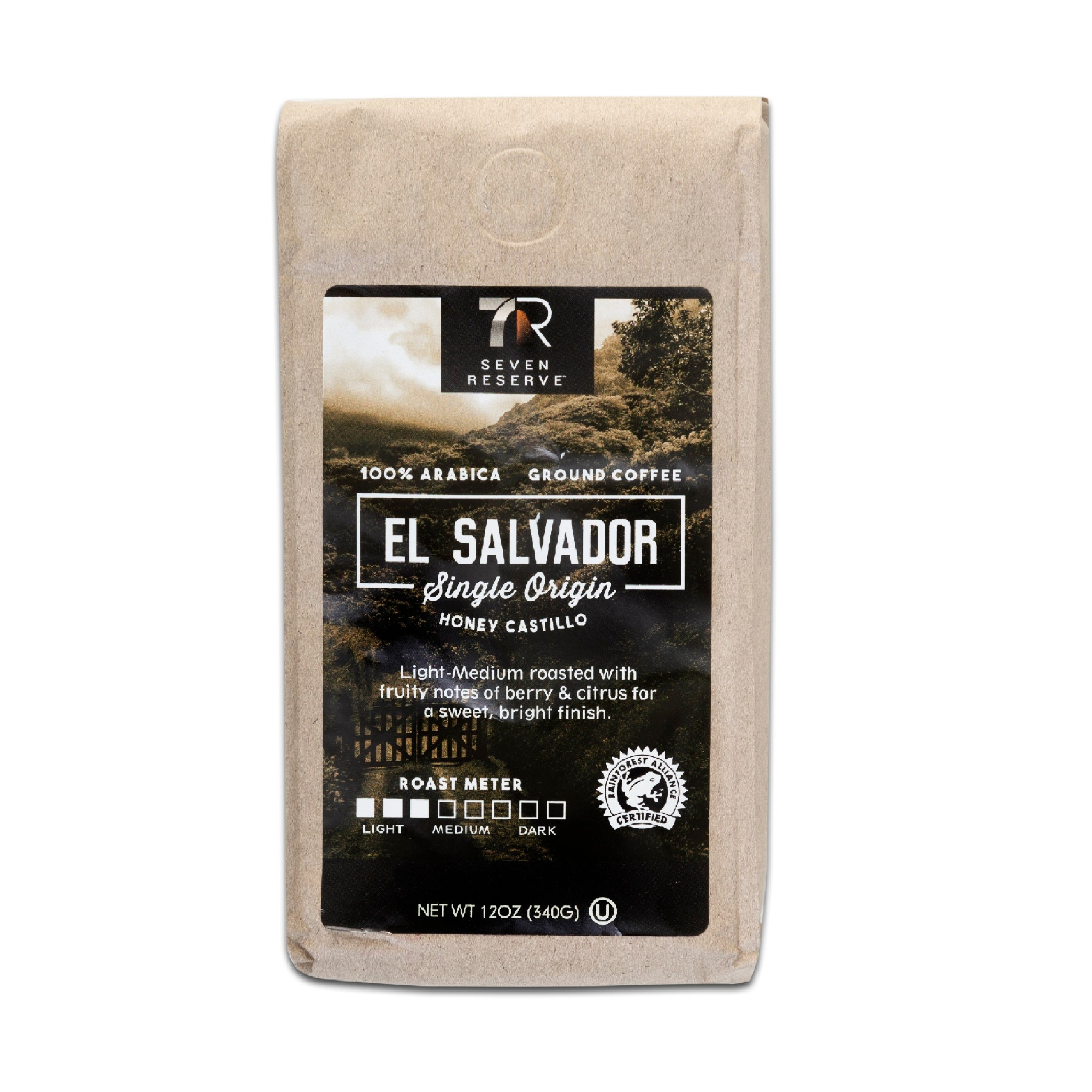 7-Eleven 7Reserve El Salvador Single Origin Honey Castillo Ground Coffee, 12 oz