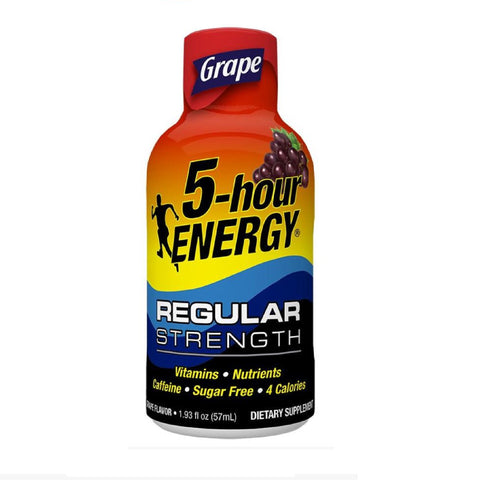 5 Hour Energy Shots, Grape, 12 Ct Box