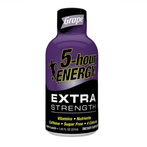 5 Hour Energy Extra Strength Energy Shots, Grape, 12 Ct Box