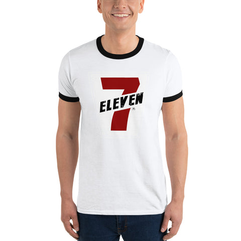"7-Eleven Men's ""Retro Logo"" Ringer T-Shirt"