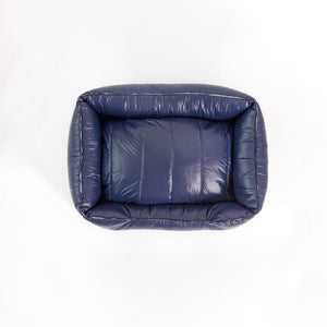 The Aspen Dog Bed, Navy Blue