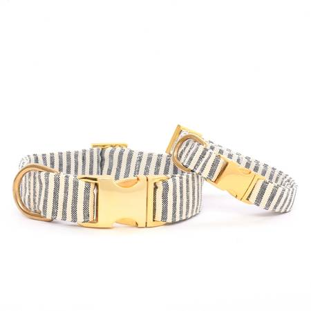 Charcoal Stripe with Gold Clasp