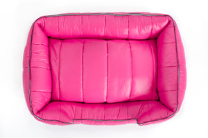 The Aspen Dog Bed, Dark Pink