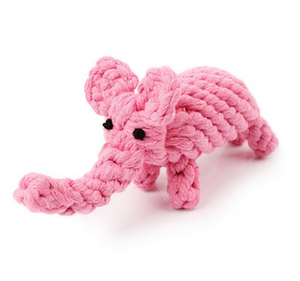 Cute Pink Elephant, Rope Dog Toy