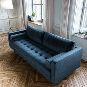 Scandormi Sofa - Navy Blue Microfiber