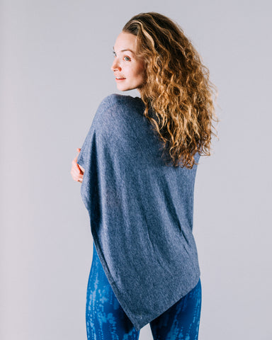 Debra Contour Seam Long Sleeve, Ink Blue
