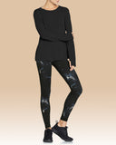 Beth Loose Fit Long Sleeve, Black