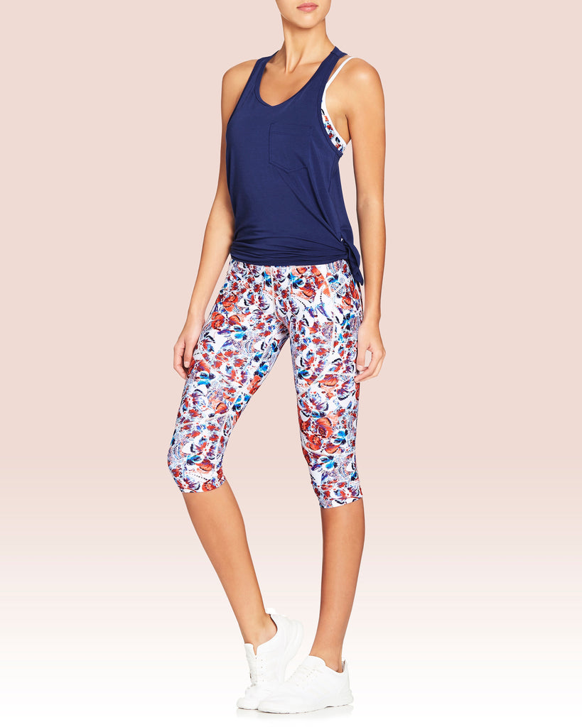 Riley Knee Crop Double Pocket Legging, Chrysalis Butterfly