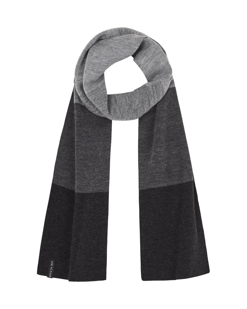 Galena Scarf, Black with Grey