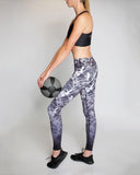 Rockell Full Length Legging, Black Marble Ombre