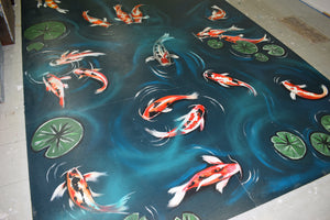 Koi Carp Mural (workshop floor)