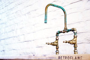 Verdigris Copper Tap Design