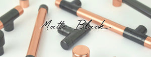 Matt black handle collection