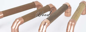 Copper and Wood Handles