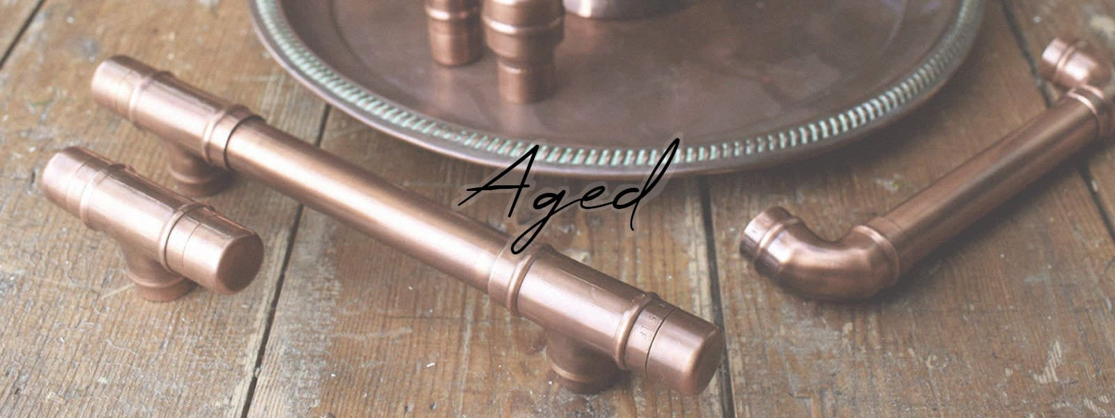 Aged Copper Handle Knob Collection Banner
