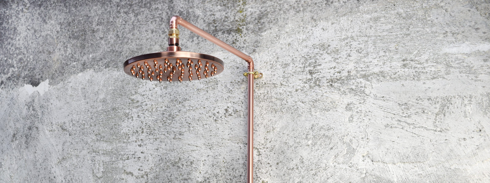 copper showers-industrial styled bathroom-proper copper design