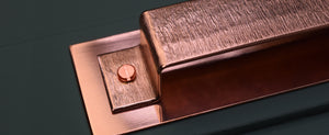 Textured Copper Drawer Handles.