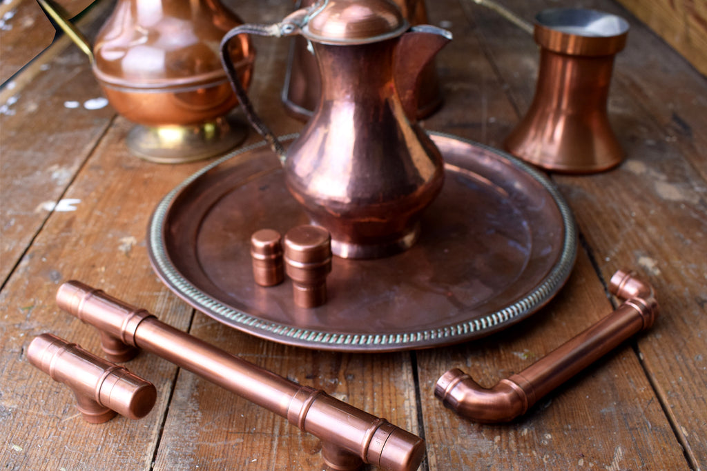 Antique Aged Copper Handles
