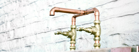 Copper Taps-surface mounted-handcrafted in the UK-brighton
