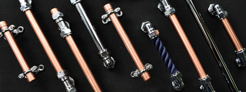 Chrome Handles-chrome pulls-yacht cabinet hardware-copper-chrome hardware-chrome knobs