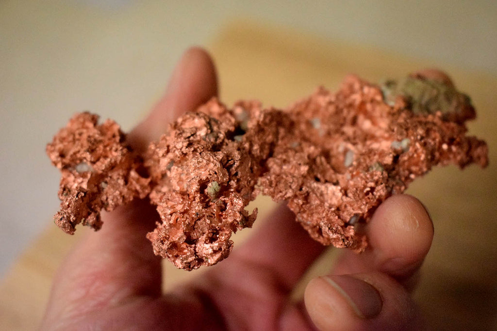 copper raw ore form Michigan