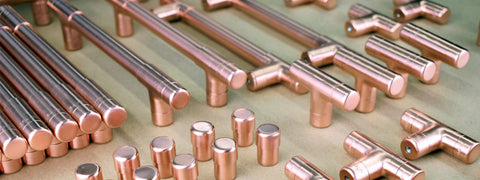 copper pulls-copper knobs-copper handles-drawer pulls-door pulls-door handles-cabinet furniture-copper cabinets-proper copper design-