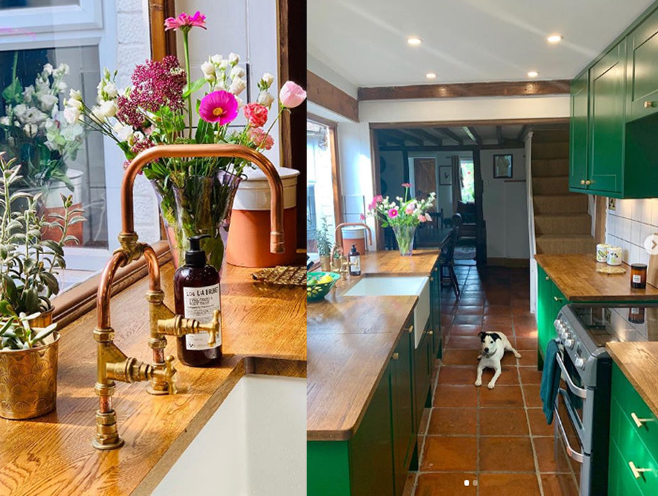 Country home with copper tap