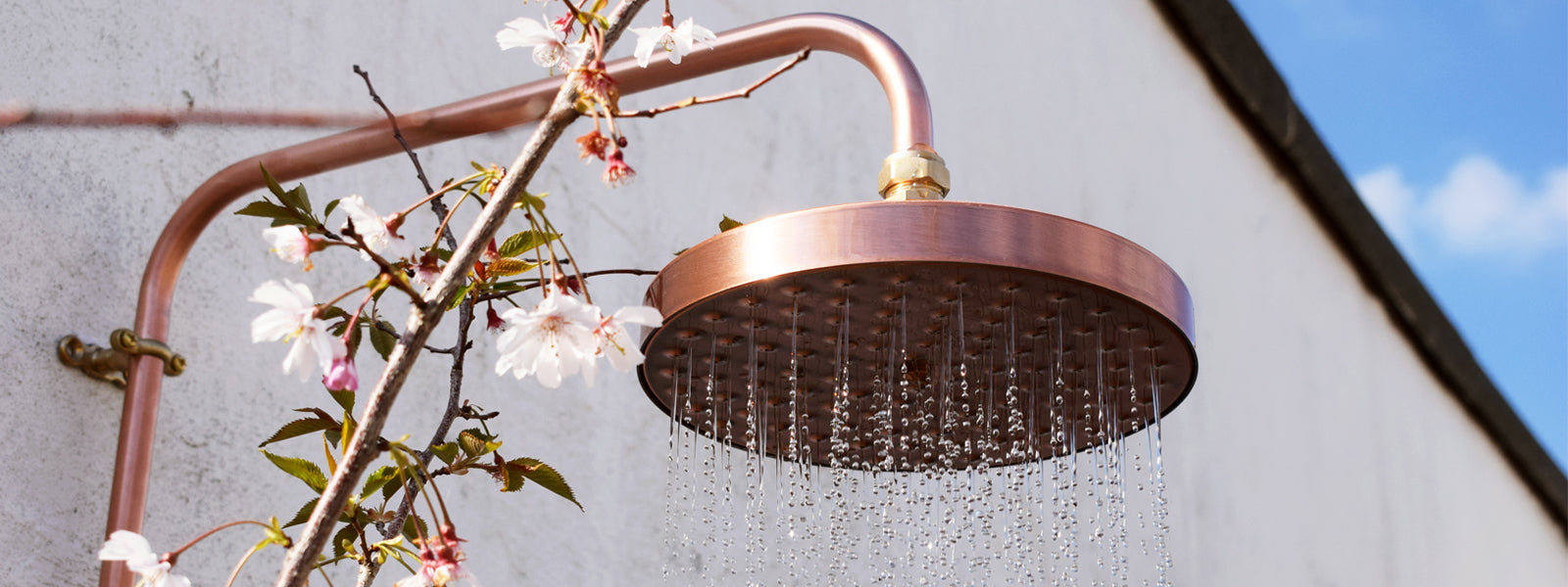Proper Copper Design Outdoor Shower Minimal Industrial Interior Design Summer Stylish