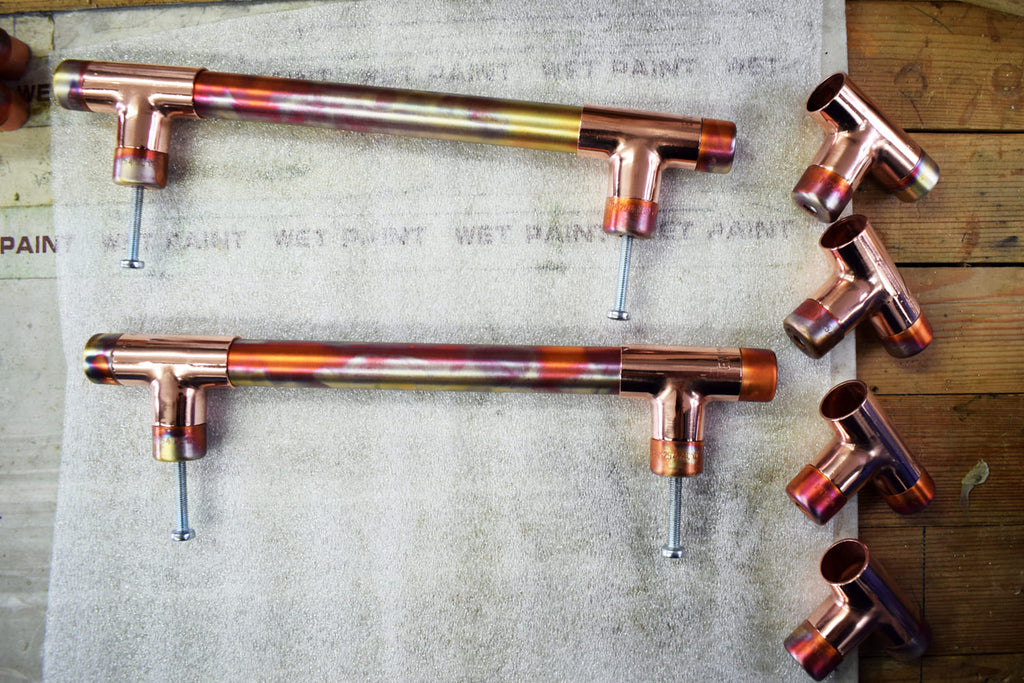 Proper Copper Design Marble and High Polish Copper Handles