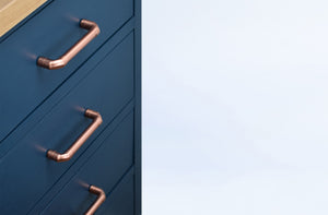 Copper handles hand-crafted in Brighton UK and featured all over the world