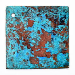 verdgris blue green patina copper tile