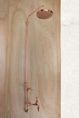 Jardin Pure Copper Outdoor Shower with Garden Tap - Proper Copper Design