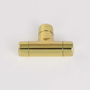 Brass High Polish T Knob - Proper Copper Design