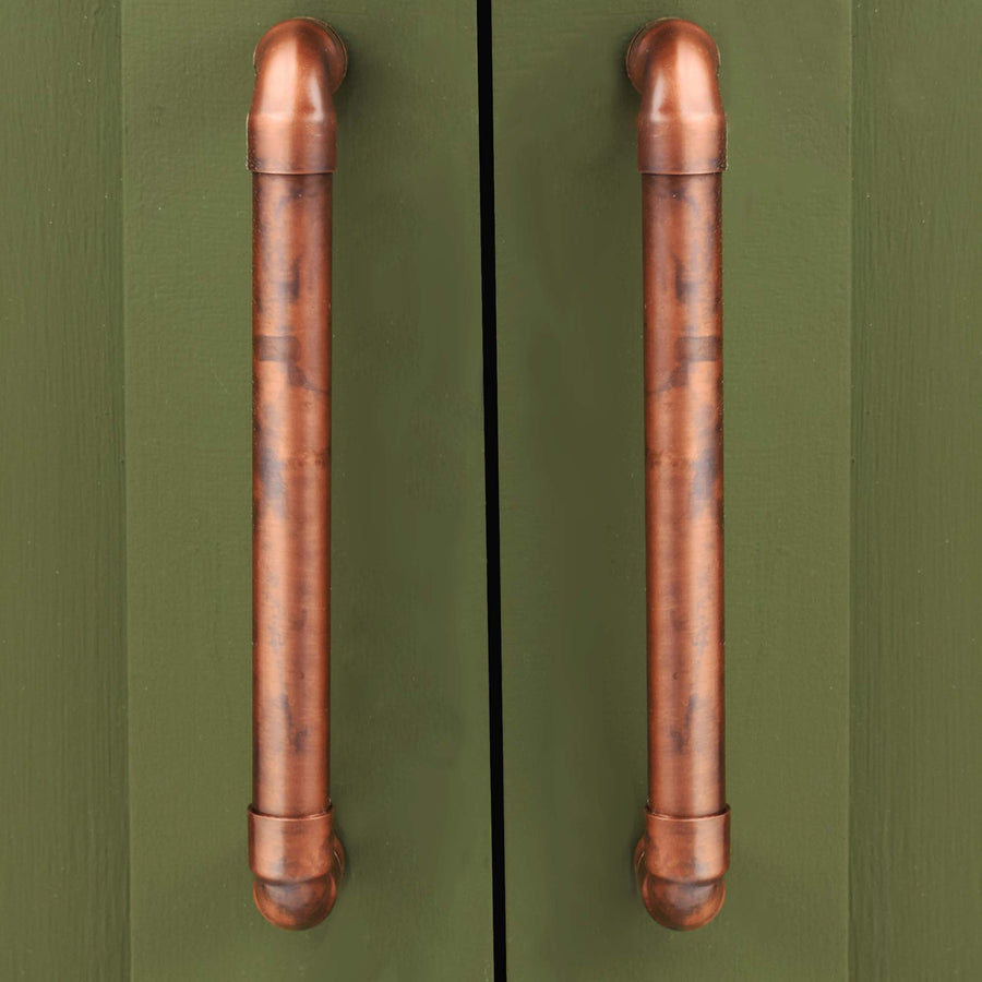 Aged Copper U-Pull Handle - Proper Copper Design