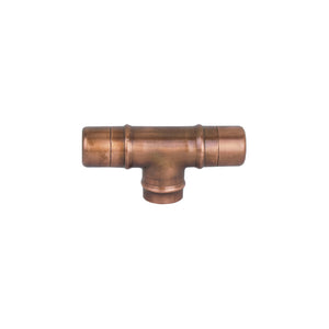 aged copper knob cabinet drawer cupboard pull handle