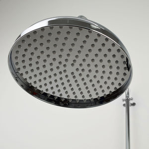Chrome Shower Head - Large Traditional Bell - Proper Copper Design
