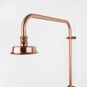 Copper Shower Head - Small Shower Rose - Proper Copper Design