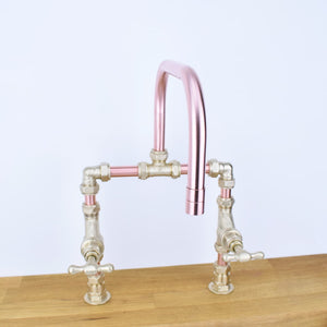 Congo Copper Mixer Tap, Proper Copper Design, Copper Mixer Tap, Handcrafted Tap, Copper and Brass tap