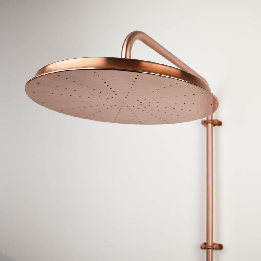 Copper Shower Head - Large Pan Head - Proper Copper Design