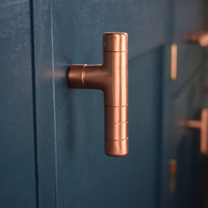 Copper T Bar Knob-Copper Knobs-Copperbarpulls-pulls-rosecoldknobsandpulls