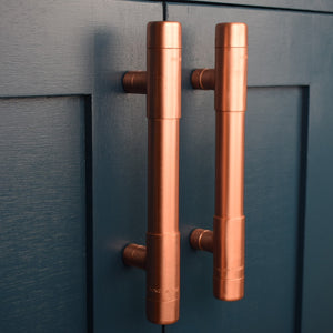 Copper Pull Handle - T-shaped (Thick Bodied) - Proper Copper Design