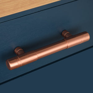 t bar pull-t pull-thick bodied copper pull-large pull handle-copper handles and pulls-copper drawer handles-drawer handles