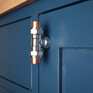 Chrome and Copper T Knob - Proper Copper Design