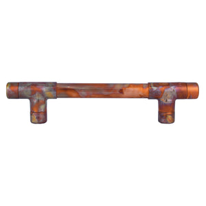 High Polish Marbled Copper Industrial Handle Pull